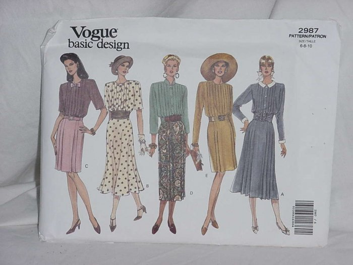 Vogue Basic Design 2987 dress sewing pattern size 6-8-10   No. 110