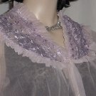 Lavender bed jacket flaw vintage button front  No. 115