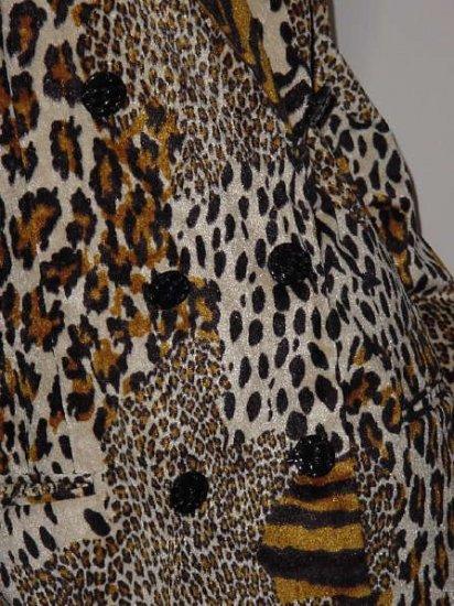 Animal print Chad Stevens Double breast blazer jacket size 12 No. 115