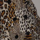 Animal print Chad Stevens Double breast blazer jacket size 12 No. 115