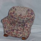 Doll rocking chair overstuffed removable seat Secret Drawer  No. 117