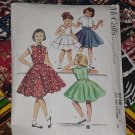 vintage McCall&#39;s Pattern 3738 Girls dress jacket size 8 printed 1956  No. 119