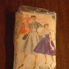 Vintage Simplicity pattern 1006  Size 14 Junior Misses Dress empire style 1950s dress No. 119