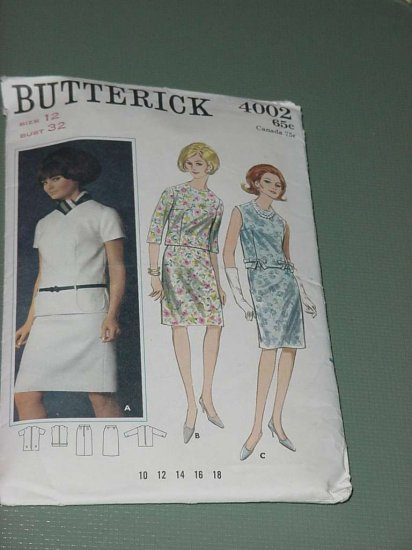 Vintage pattern McCall 4002 size 12 bust 32 Quick N Easy two piece dress  No. 122