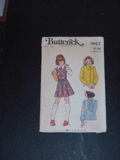 Vintage  Pattern Butterick 3817