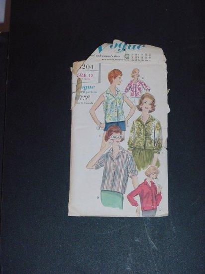 Butterick Pattern 5204 Womens Blouse Shirt Pattern