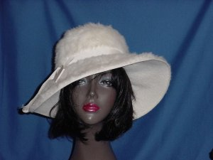 Womens Vintage hat French Room Stix Baer Fuller Classic White wool winter white  No. 125