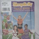 Simplicity printed sewing Pattern Cheerleader outfit size BB 12,14 pattern 8294 Uncut No. 121