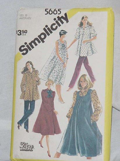 Simplicity printed sewing Pattern Maternity size 12 pattern 5665 Uncut No. 121