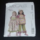 McCall pattern 6062  girls dress top capri pants kerchief  No. 122