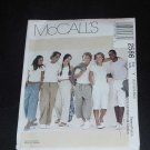 McCalls 2586 Fashion sewing pattern draw string pants shorts misses mens Y  124