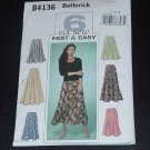 Butterick Fast Easy B4136 Misses petite skirts (14-16-18) No. 124