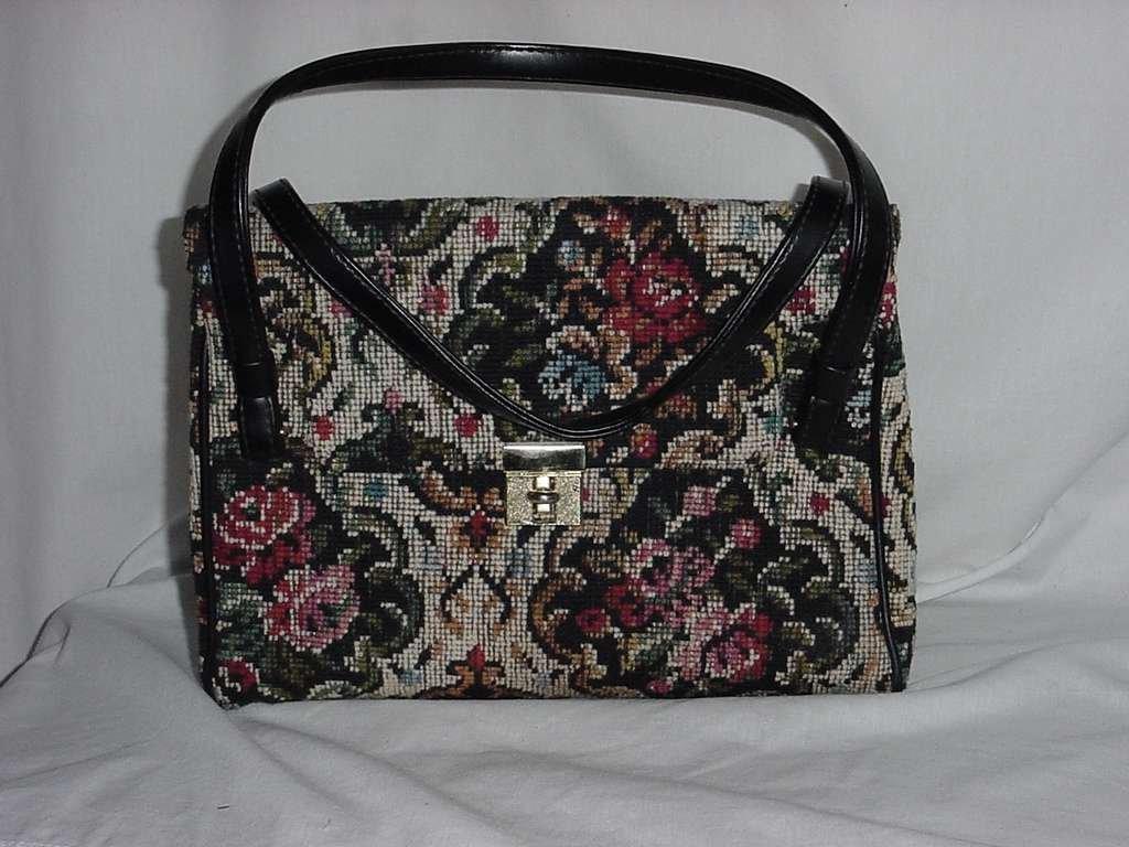 Tapestry purse Vintage Markay tapestry handbag No. 128