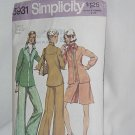 Simplicity Sewing Pattern Shirt jacket short pantskirt pants 5931 Size 12 No. 60