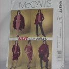 McCalls Misses 4977 petite cape jacket top skirt pants size Y (Ssm-sml-med) Uncut No. 60