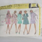 McCalls Misses ensemble 2276 coat jacket skirt dress Uncut size 10  No. 60
