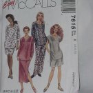 McCalls  Easy 7615 Sizes 46 48 50 Uncut pattern Womens tunic Skirt pants shorts Bust 50-54 No. 129