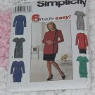 7763 Simplicity Misses Misses Petite dress tunic skirt Size R  14,16,18 Uncut No. 133