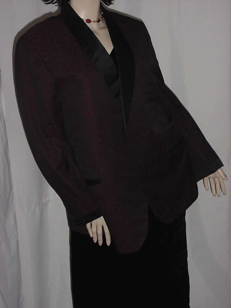 Vintage Men's brocade Formal Jacket Tuxedo, Dinner Jacket smoking jacket 1960s  No. 134