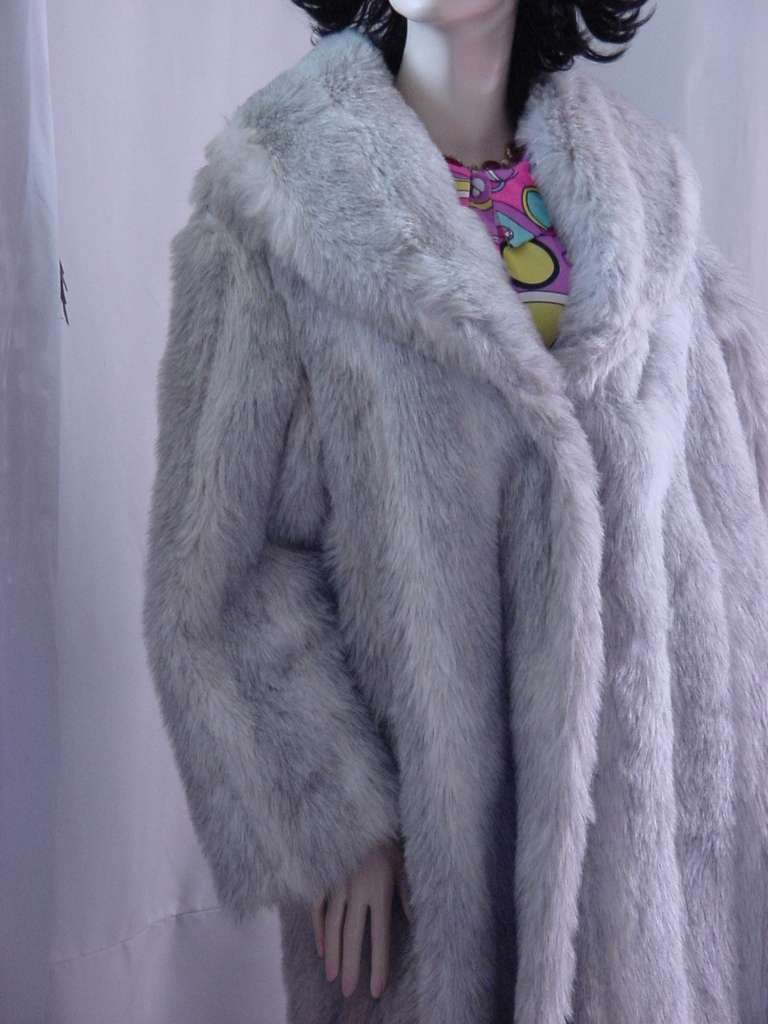 G Caseratti Originals Faux Fur Full Length Coat Gray faux fur Size  No. 157