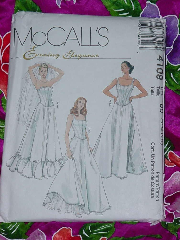 Petticoats Formal Evening Elegance McCall's Sz. DD (12-18) 4109 boned lined tops petticoats  No. 135