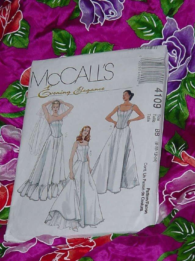 Petticoats Formal Evening Elegance McCall's Sz. BB (8-14) 4109 boned lined tops petticoats  No. 135