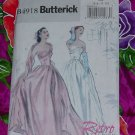 Evening gown strapless floor length dress Retro Butterick Pattern 4918 Size AA 6-12 Uncut No. 135