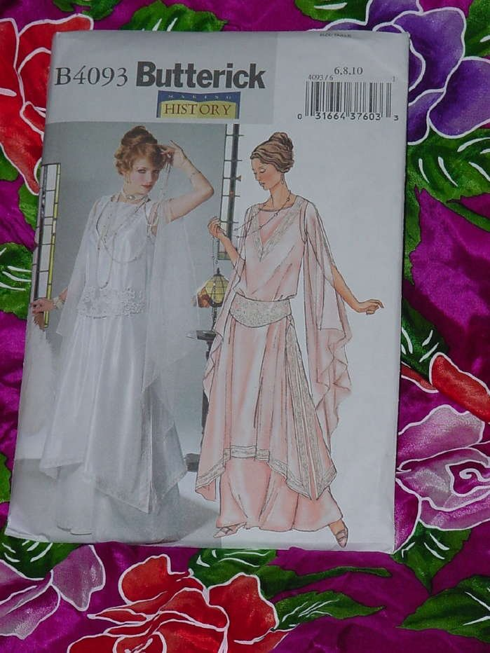 Misses petite tunic gown girdle history pattern ca 1914 Uncut Size 6-10  No. 135