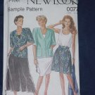 New Look Simplicity Pattern 0077 Summer Jacket Skirt Culottes  No. 136