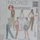 McCalls 1 hour drawstring pants Pattern 2101 Size Z (lrg,Xlrg) Uncut  No. 136