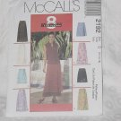 McCalls Skirts Wrap Skirt Pattern 2192 Size D 12-14-16 Uncut  No. 136