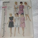 Vintage Simplicity 5953 Misses one piece A-line dress 1965 Size 14 bust 34 No. 137