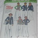 Vintage Simplicity 7930 Misses pullover top, pants, skirt unlined jacket Size 14 bust 36 No. 137
