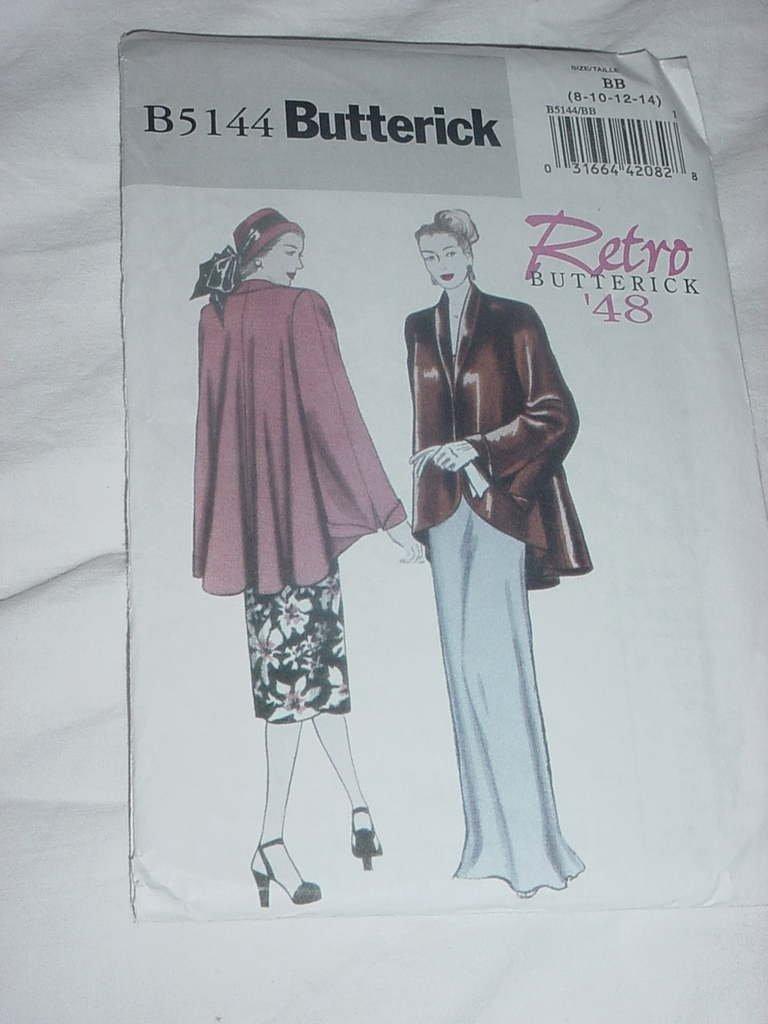 Misses Retro Butterick Pattern 5144 Size BB 8-14 Uncut No. 138