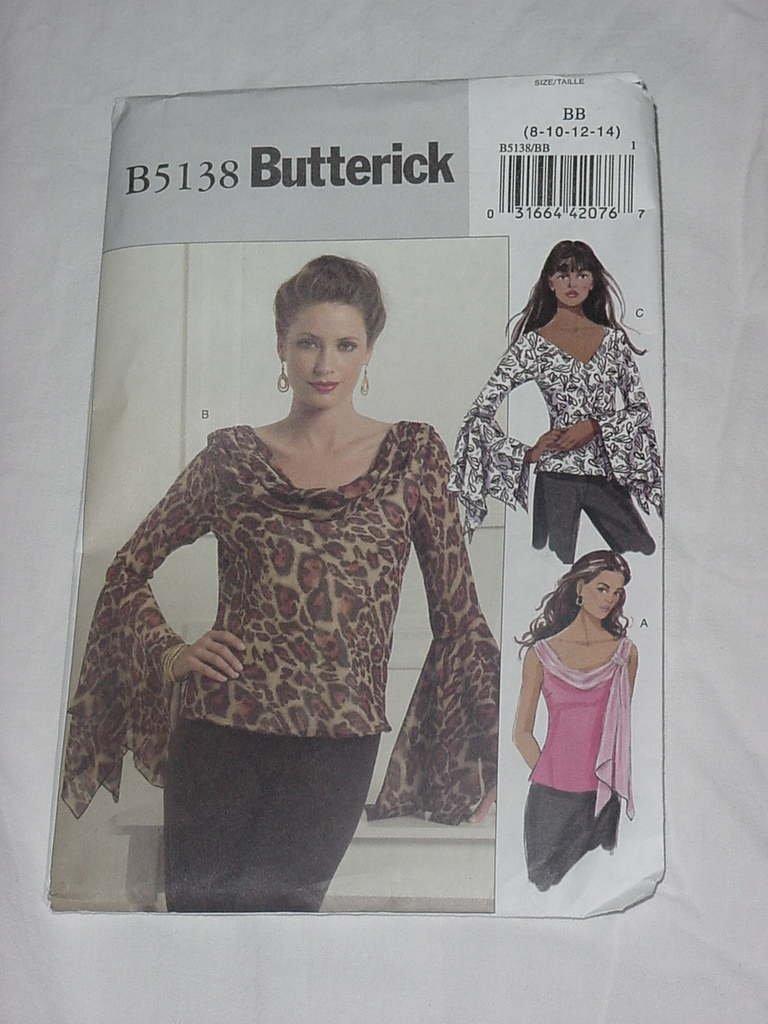 Misses Butterick Pattern Top 5138 Size BB 8-14 Uncut No. 139