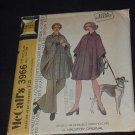 Vintage McCalls 3966 Reversible Poncho-cape Halston Original Size m Bust 34-36  No. 139