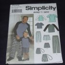 Boys Men's Loungewear pants shorts bag knit top Simplicity 9499  No. 139