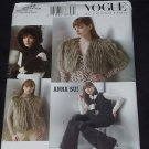 Vogue Accessories V639 sewing pattern Jacket vest hat mittens leg warmers One size No. 139