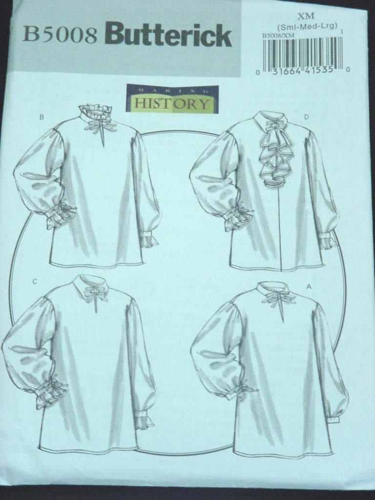 Misses Butterick Pattern Historical Blouse B5008 Size XM SMall Medium Large Uncut No. 139