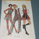 Misses Vintage Simplicity 5155 Mini jumper vest short shorts pants size 9/10 Bust 3  No. 141