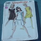 Simplicity 7493 vintage pattern Young Jr/ teen Size 7-8 Bust 29 No. 141