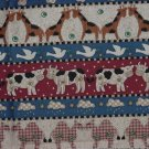 Noah's Ark Fabric Panel 36  x 37  fabric panels pillow quilt squares Animal theme  No. 141