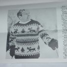 Reindeer Pullover McCall's Needlework & Crafts Magazine leaflet 692-B  No. 142