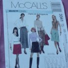 McCalls Pattern 3341 Quick & Easy Skirts in 5 lengths Size 12-18 No. 142