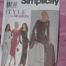 Misses Knit Dress 8889 Simplicity Size A 10-22 No. 142