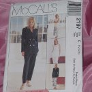 Lined Jacket Vest pants Skirt McCalls Pattern 2197 Size 10-14 No. 142
