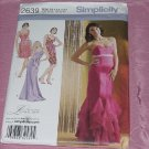Misses' Simplicity 2639 formal Evening dress Two Lengths Size 4-12 Uncut No. 142