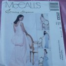 Evening Elegance McCall's 2533 gown back pouf train Size 12-16 No. 142