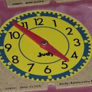 7 Judy Clocks mini clock tell time hour, half hour, quarter hour   142