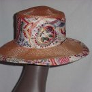Hat Whittall & Shon Orange melon wide brim Straw womans hat  No. 144